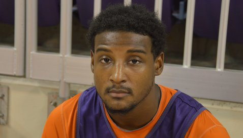 Devin Coleman talks to the media Wednesday
