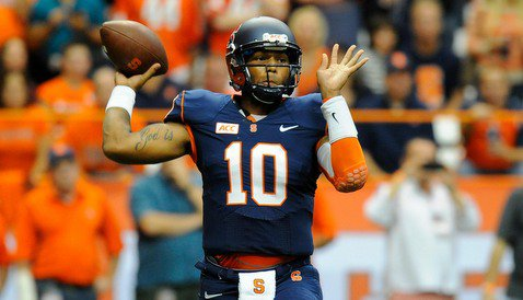 Syracuse quarterback Terrel Hunt had a rough afternoon against Clemson's defense. <span style=