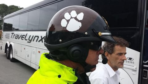 Miami-Dade police escorts showing their support for Clemson