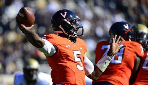 Virginia quarterback David Watford threw for 376 yards against Georgia Tech last week (Photo: Cody Bradshaw)