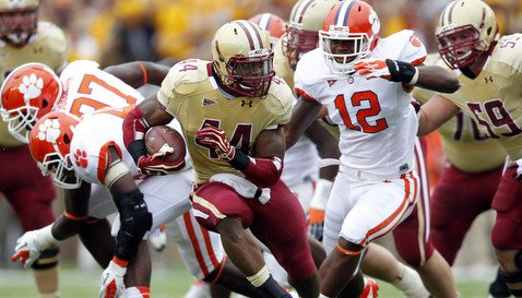 Andre Williams was held to just 61 yards on 22 carries in this game last year at BC