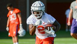 Tigers hold first practice with freshmen, new look helmet
