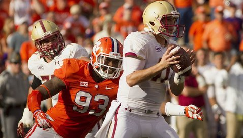 Corey Crawford helped Clemson sack Rettig five times on the day