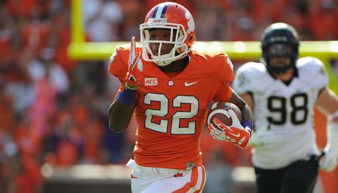 Howard has averaged 4.4 yards per carry as a backup.  Will he be the starting RB for the Tigers in 2014?