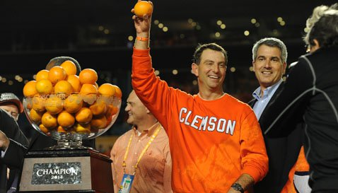 Over the last four seasons, Clemson has a 42-11 record.