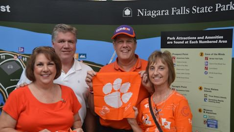 Clemson fans we found at Niagara Falls on Thursday.