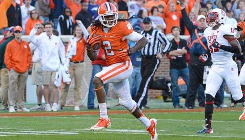 Sammy Watkins scores a touchdown against NC State last season. (TigerNet Staff)