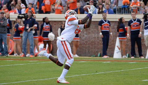 Watkins had his 13th 100-yard receiving game Saturday, a Clemson record