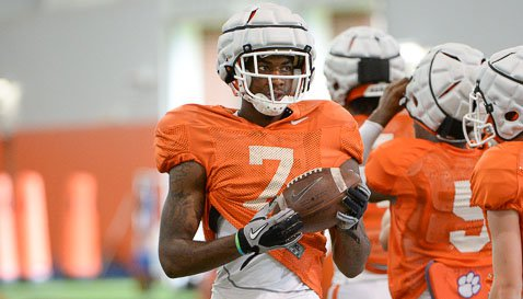 Freshman WR Mike Williams continues to impress Dabo Swinney at practice. (TigerNet Staff)