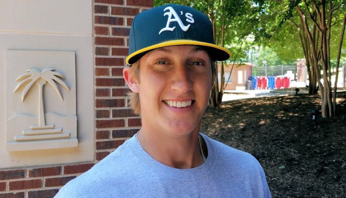 Gossett was drafted by the Oakland A's in the second round (65th pick) of the MLB Draft Thursday night.