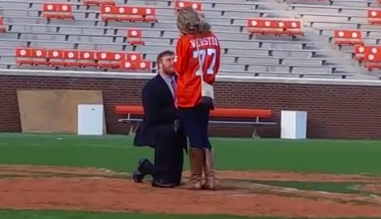 WATCH: Reid Webster proposes to his girlfriend after Palmetto Bowl