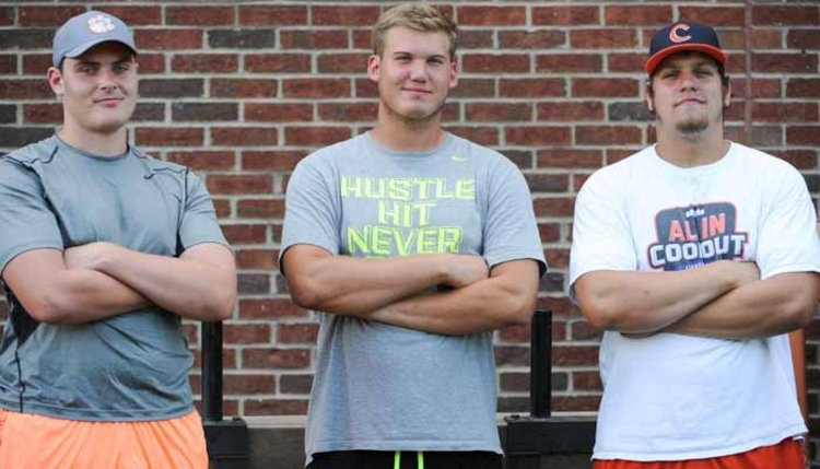All four of Clemson's highly rated OL are expected on campus.