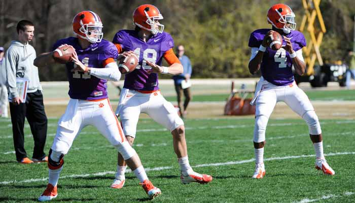 Last year saw Cole Stoudt, Chad Kelly and Deshaun Watson battling it out. None will participate in spring practice this season