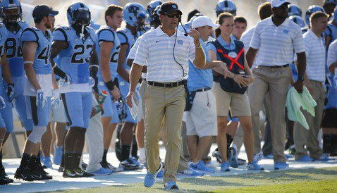 Larry Fedora is also impressed with Clemson's defense (Photo by Charles LeClaire)