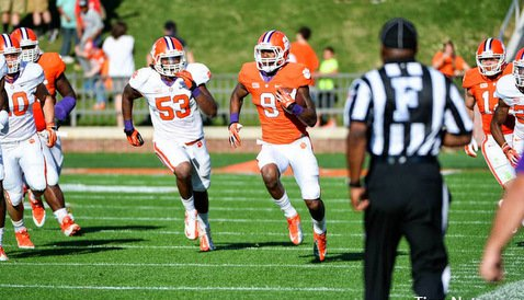 Freshman running back Wayne Gallman had the longest run in Wednesday's scrimmage