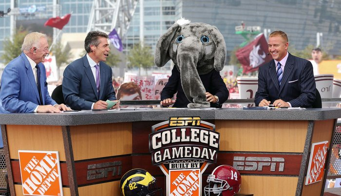 ESPN's Gameday can usually be found at an SEC location (Photo by Kevin Jairaj)