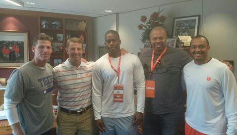 Lamar during his August Clemson visit
