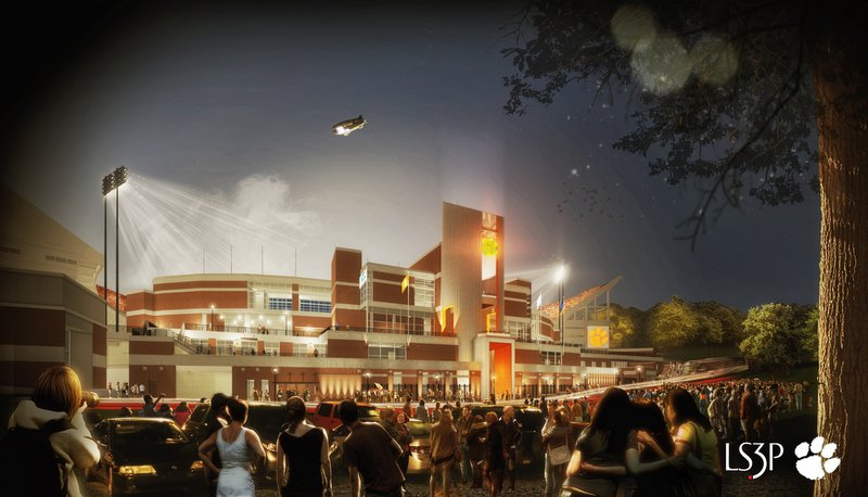 A night rendering of the WestZone and oculus