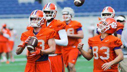 Clemson holds Christmas Day bowl practice