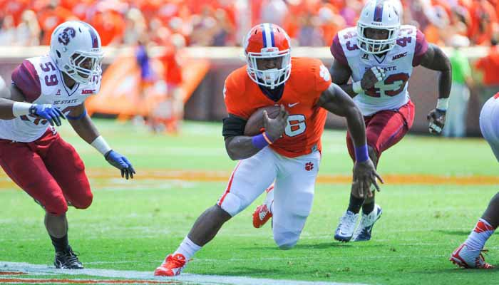 Choice carried the ball 12 times for 74 yards last Saturday, a 6.2 average