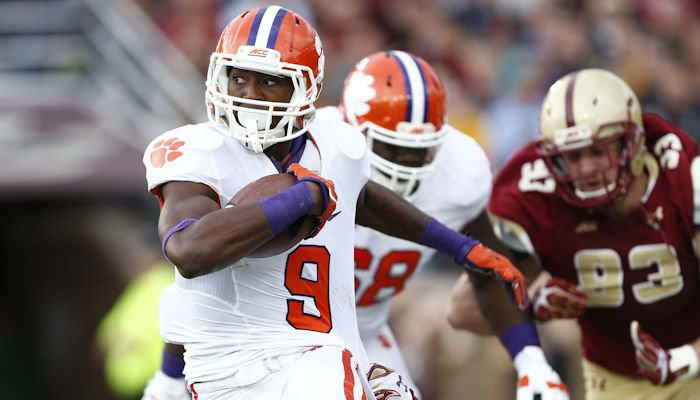 Wayne Gallman and Tigers play Boston College Friday night
