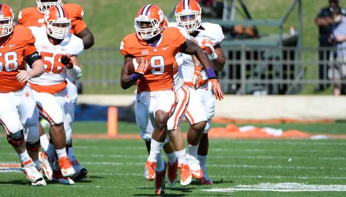 Gallman led all players in all-purpose yardage with 89 total yards.
