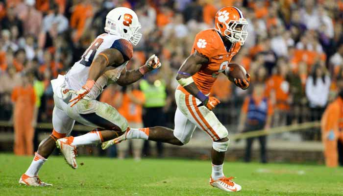 Wayne Gallman rushed for 101 yards on 28 carries.