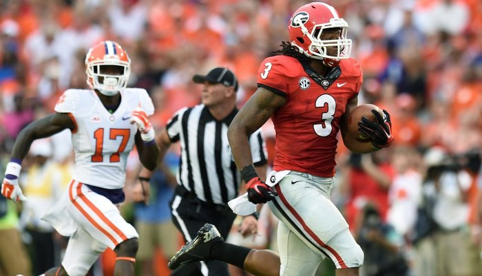 Gurley rushed for a career-high 198 yards