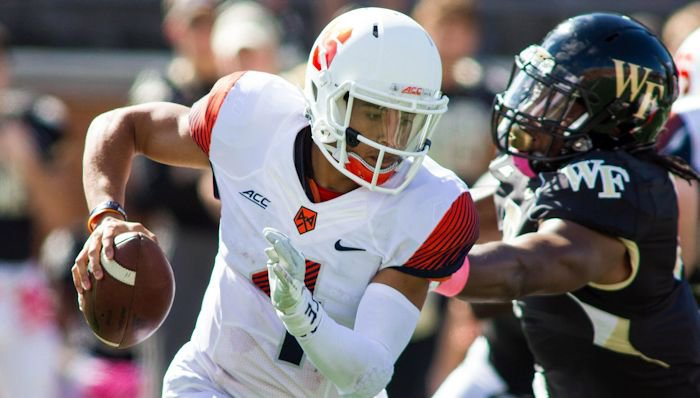 A.J. Long against Wake Forest last week. <span style=