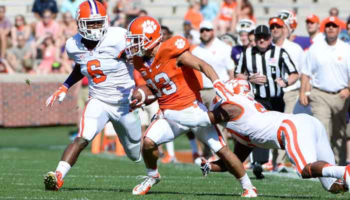 Rodriguez was the leading receiver for the Orange team in the spring game with 5 catches for 53 yards.