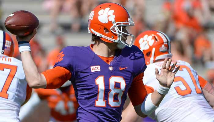 The spring game marked 140 days till Cole Stoudt leads the Tigers against UGA.