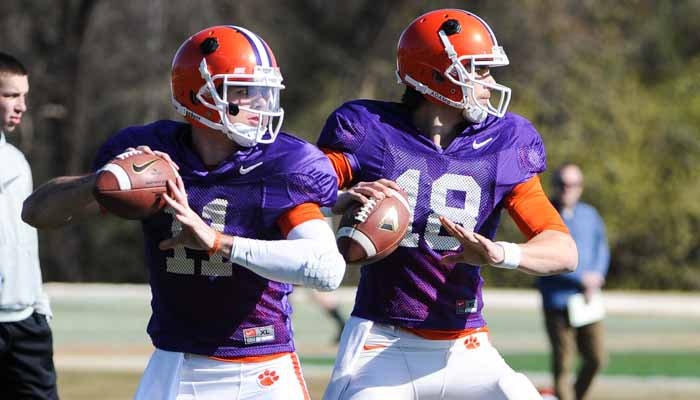 Cole Stoudt and Chad Kelly have one final chance to impress the coaches on Saturday.