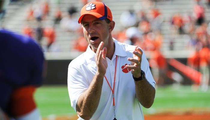 Dabo recaps spring practice, Kelly situation and religion