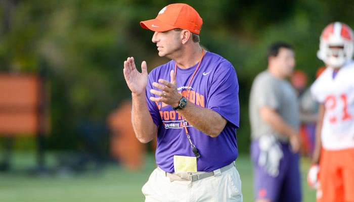 Tiger Bytes: Dabo on Kurt Fleming, Jay Jay McCullough and other camp nuggets