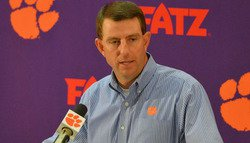 Swinney talks suspensions, injuries, position changes and Tyshon Dye