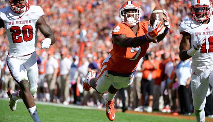 Williams caught six passes for 155 yards and two touchdowns.