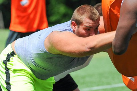 Clemson and South Carolina are believed to be the leaders for the four-star offensive lineman