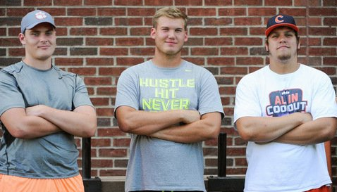 Jake Fruhmorgen, Mitch Hyatt and Noah Green are already on campus