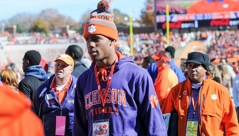 Kelly Bryant before last weekend's Clemson rivalry game against South Carolina
