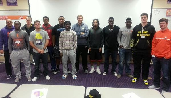 Clemson's early enrollees pose for a picture Sunday (Photo courtesy of Clemson football Twitter)
