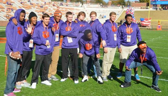 Some of Clemson's midyear football signees at a recent Clemson game