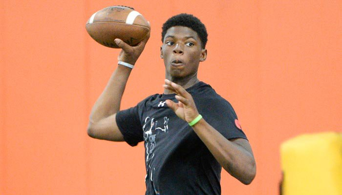 Cooper works out at Dabo Swinney's camp in June