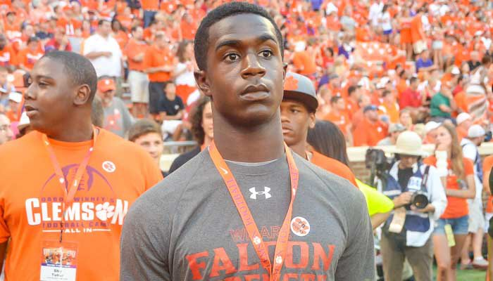 Johnson took his official visit to Clemson in January