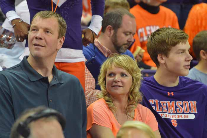 The Smits family sat near the Clemson bench Saturday
