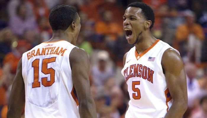 Grantham and Blossomgame led the Tigers in scoring in the win over Syracuse (Photo by Joshua S. Kelly)