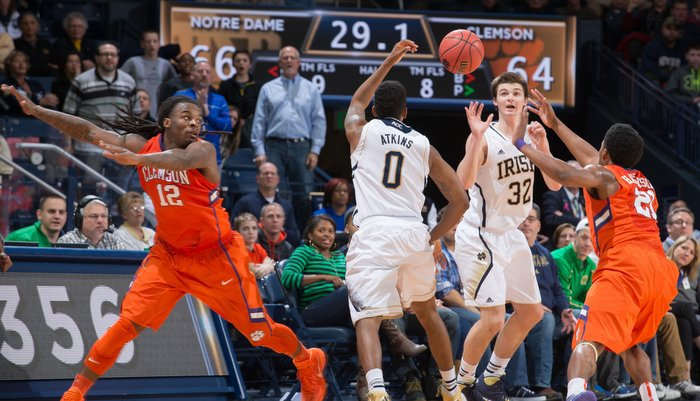 Clemson hosts Notre Dame Tuesday, and Clemson fans need to show up in support (Photo by  Matt Cashore)