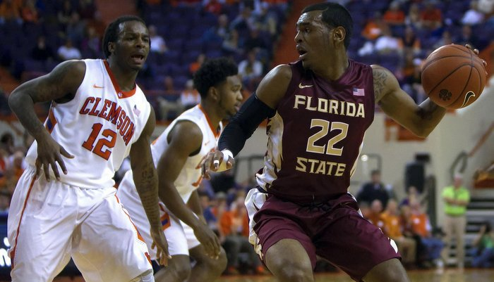 Rod Hall (left) led Clemson with 12 points (Photo by Joshua S. Kelly)
