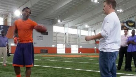 Rod Hall worked out in front of several NFL scouts