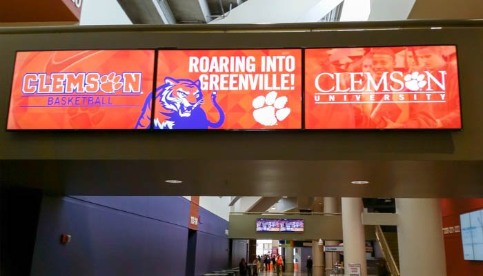 Clemson's basketball team will play its home games in Greenville next season.