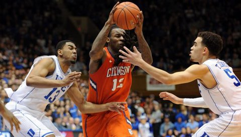 Rod Hall scored just seven points in the Tigers' loss at Duke (Photo by Evan Pike)